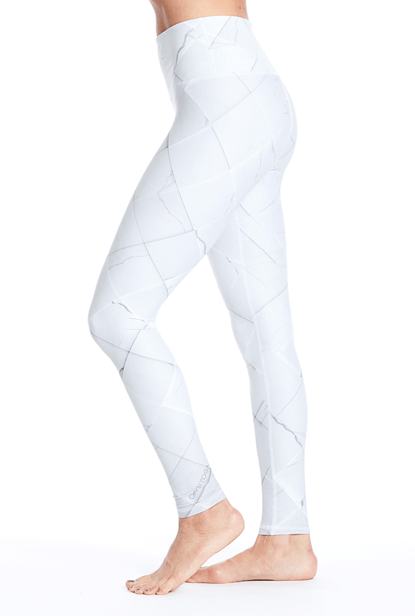Marble Tiles Leggings - White