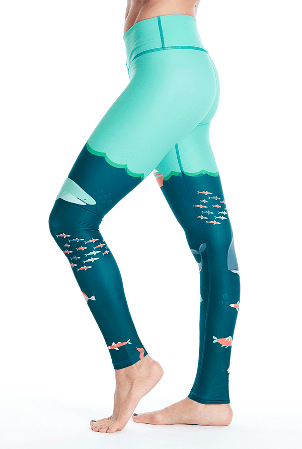 Under The Sea Leggings - Teal/Blue