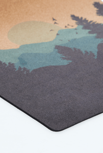 CORKPro Mat - Artists Collection - Mountains (Blue)