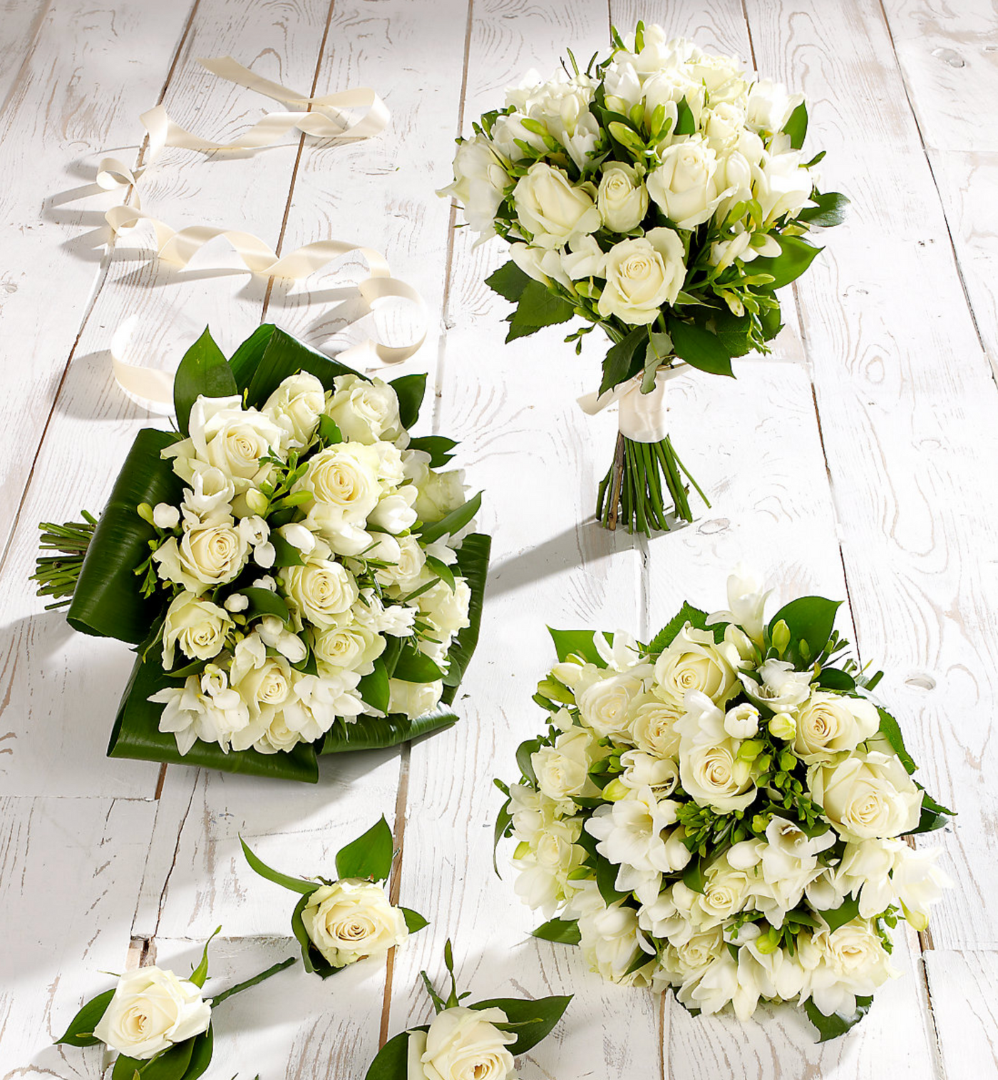 White Rose Freesia Wedding Collection Floralsection