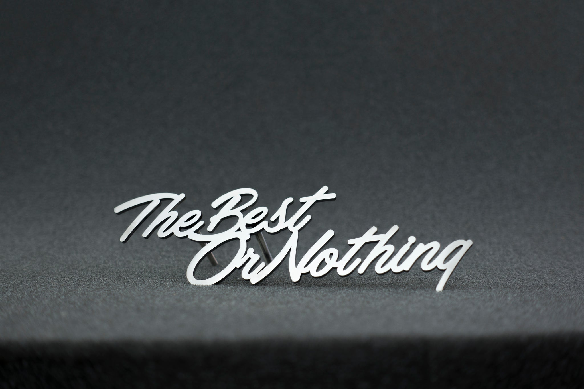 The Best Or Nothing grill badge emblem