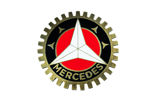 Retro Mercedes Benz badge emblem