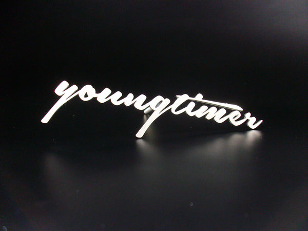 Youngtimer emblem badge stainless steel