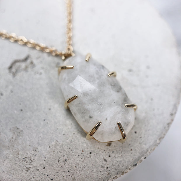 One of a Kind - Shadow Moonstone Necklace