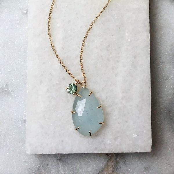 One of a Kind - Lucy Aquamarine Necklace