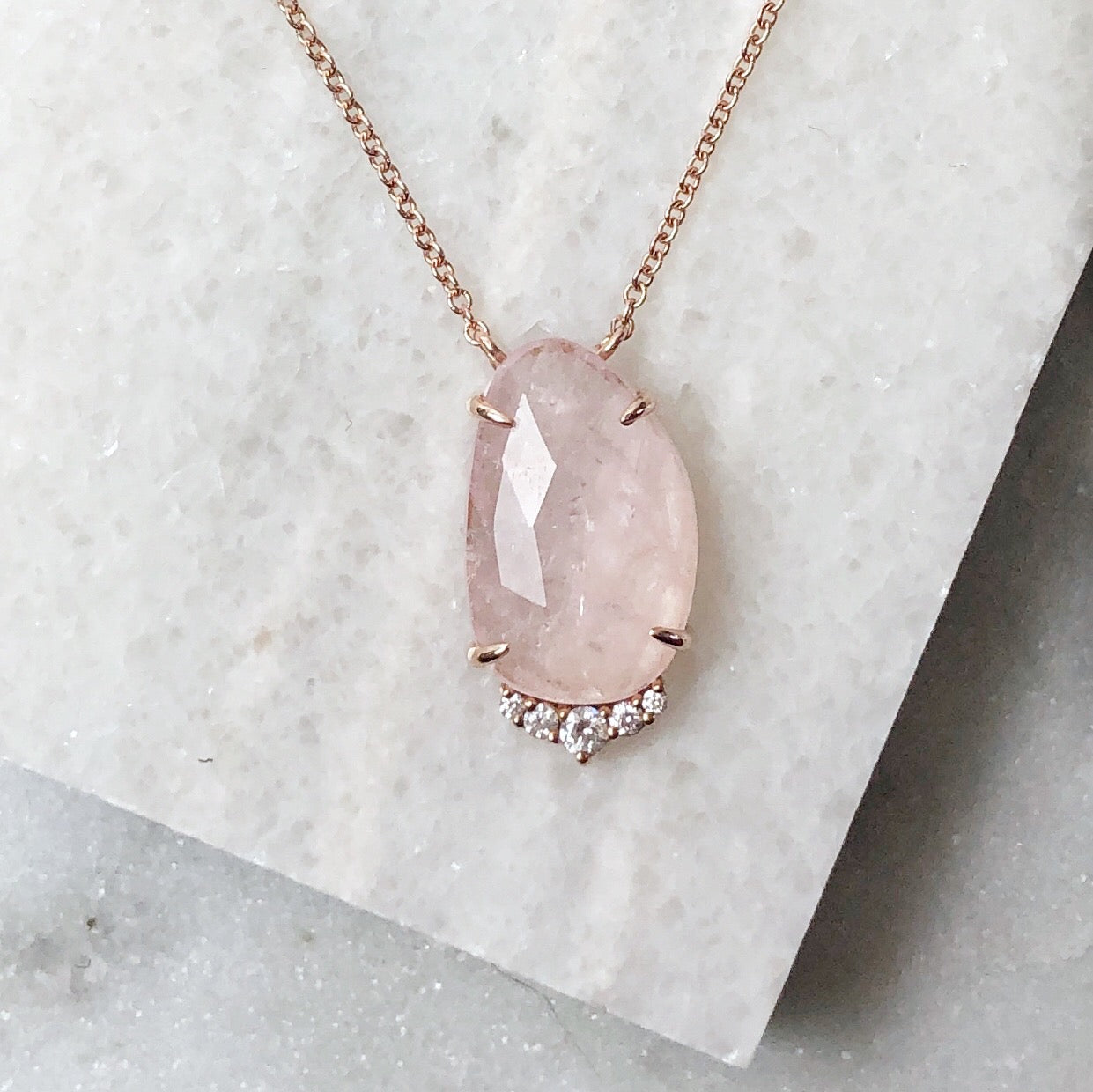 One of a Kind - Zoe Morganite Necklace