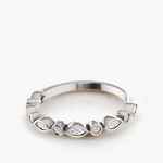 Alternating Diamond Bezel Band