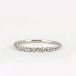 Baby Dewdrop Diamond Half Set Band