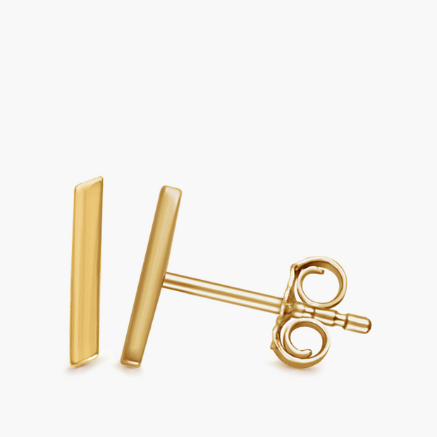 Bar Studs - 14k Yellow Gold