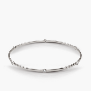 5 Diamond Bezel Bangle