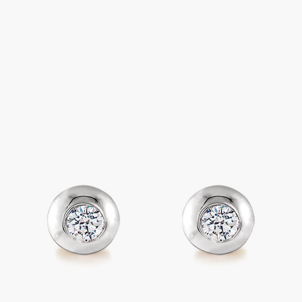 Domed Diamond Studs