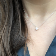 Ellie Square Necklace with Moissanite