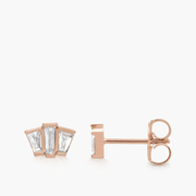 Baguette Diamond Trio Studs