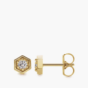 Hexagon Diamond Studs