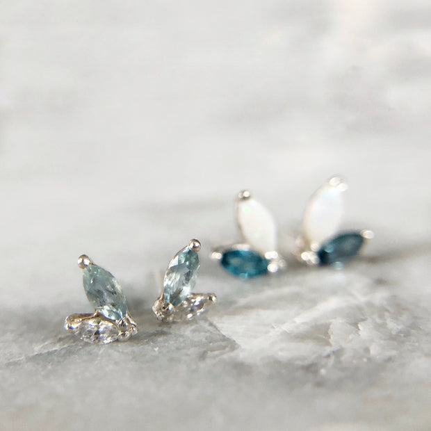 Lille Laurelette Gemstone Earrings - Sterling & Topaz