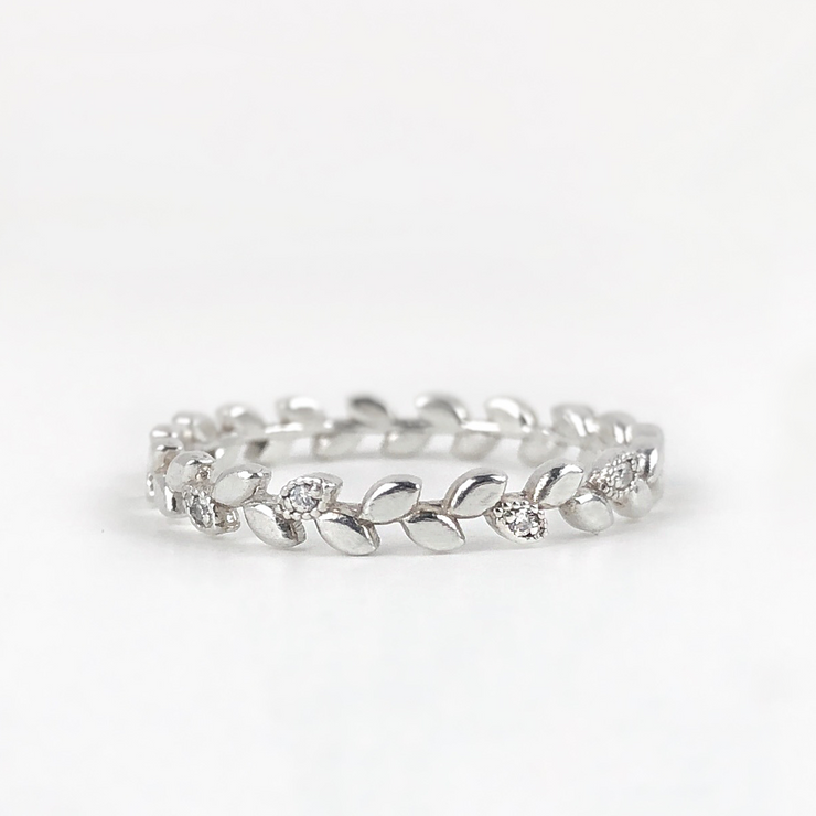 Laurel Diamond Eternity Band