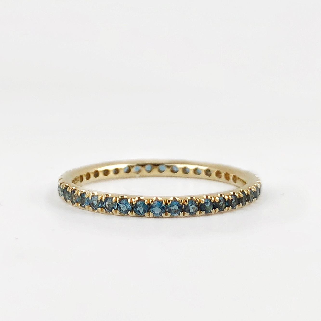 One of a Kind - London Blue Topaz Split Prong Band