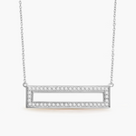 Diamond Frame Necklace