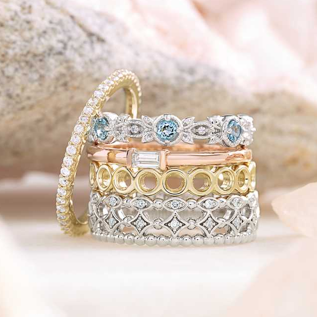 Baguette Diamond Stacker