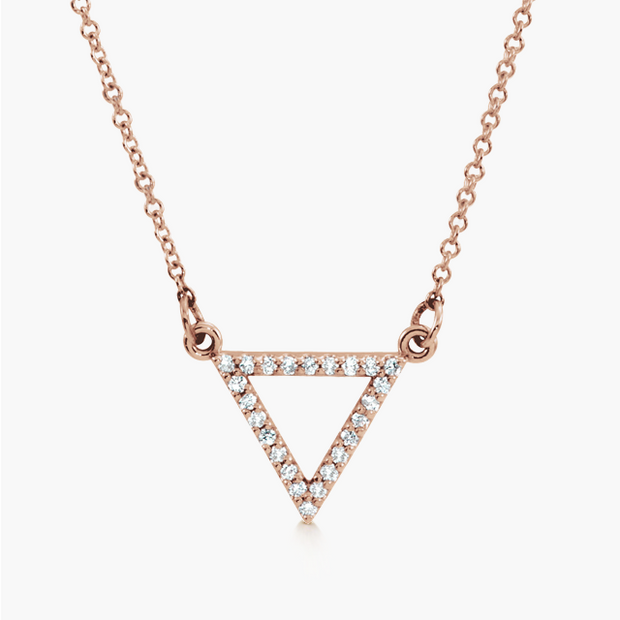 Diamond Triangle Necklace