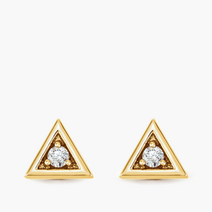 Triangle Diamond Studs