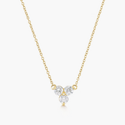 Diamond Trio Necklace - 14k Yellow Gold
