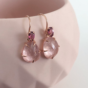 One of a Kind - Zoe Morganite Earrings