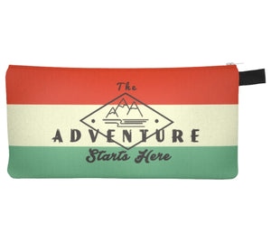 The Adventure Starts Here pencil pouch