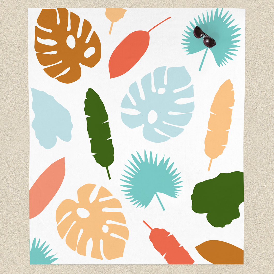 Modern Botanicals Beach Sheet: available in 2 sizes