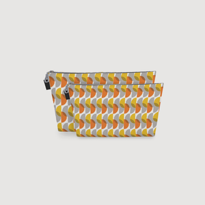 Print 65 Toiletry Bag:<br>  Gold & Grey