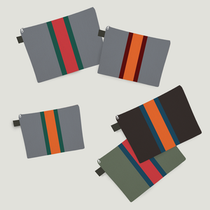 Stripe Carry-all Pouches