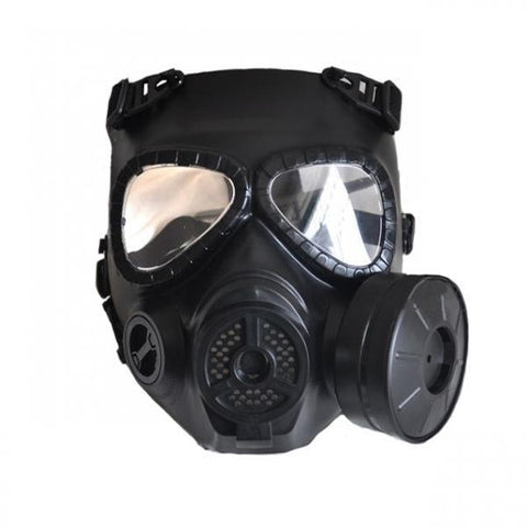 Tactical Skull Masks Resin Full Face fog fan Gas Masks for CS Wargame Airsoft paintball Face protective Black