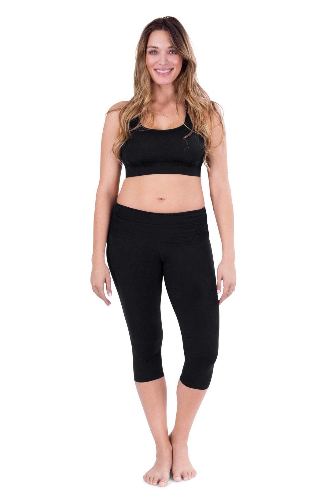 Belly Bandit Black / S Belly Bandit® ActiveWear Essential Capri