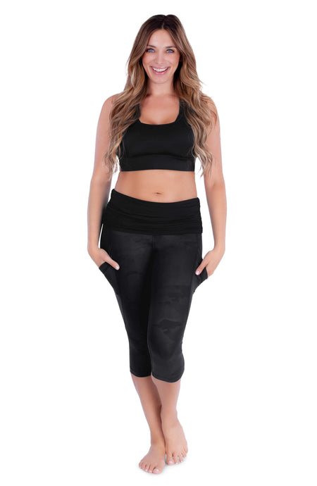 Belly Bandit Black / S Belly Bandit® ActiveWear Power Capri