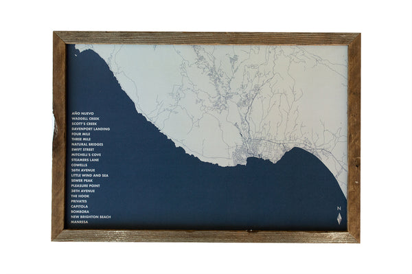 SANTA CRUZ SURF MAP BY SAWYER