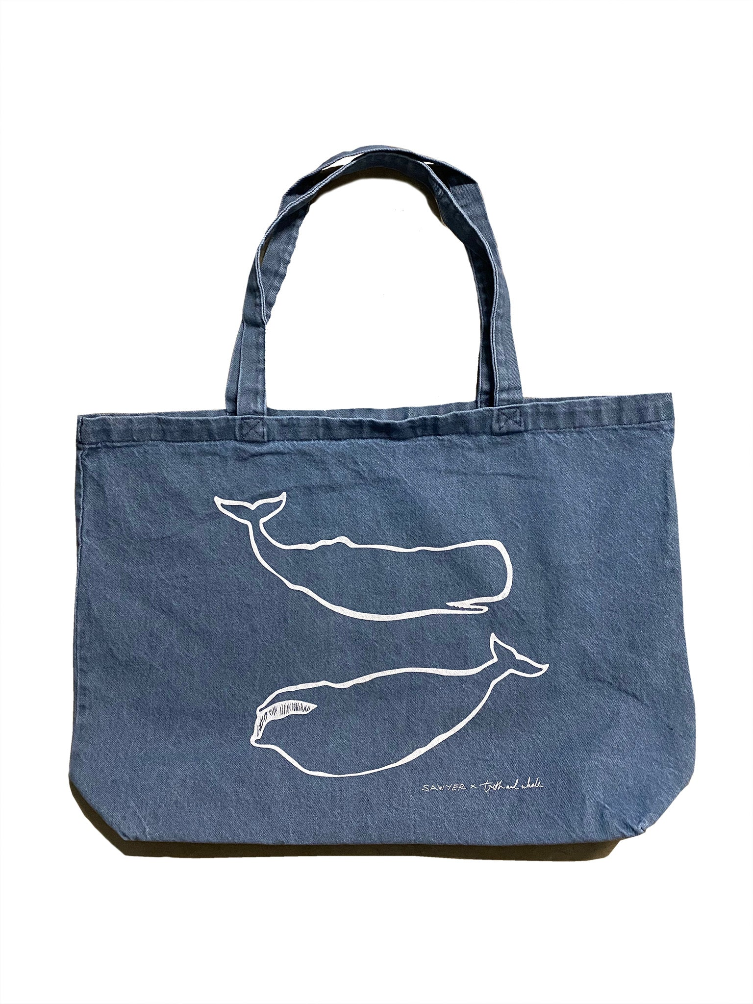 SAWYER x TRUTH & WHALE OUTLINER DENIM TOTE