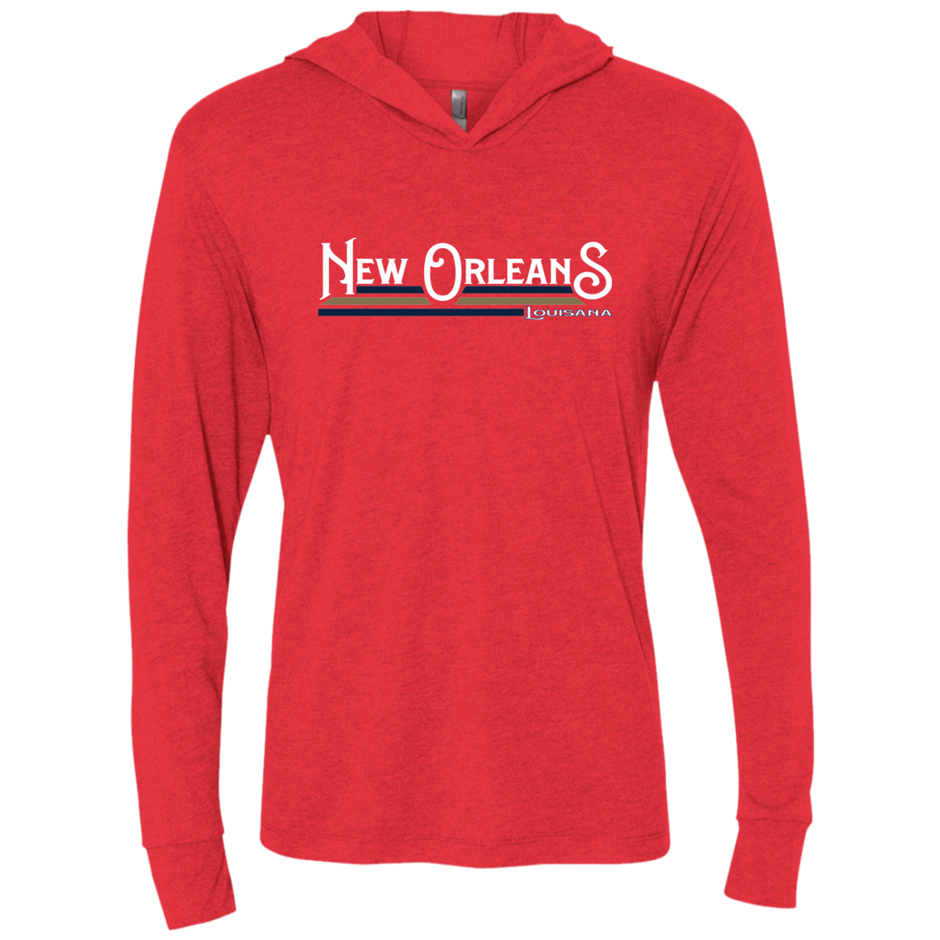 New Orleans Pels Unisex Triblend LS Hooded T-Shirt