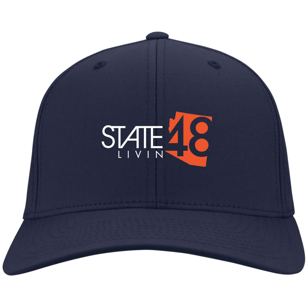 State 48 Livin Navy / Orange Flex Fit  Hat