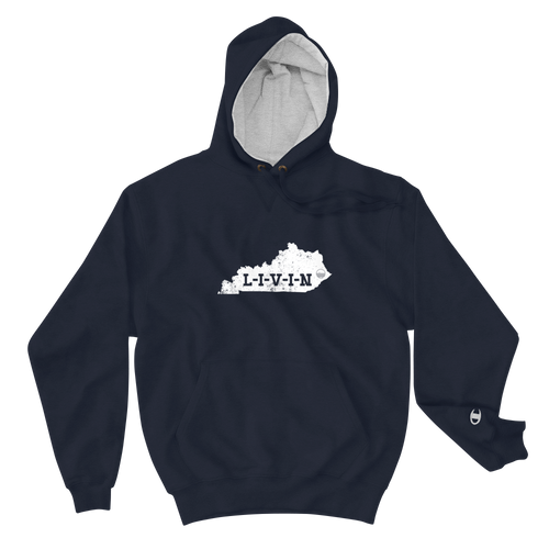 Kentucky LIVIN White Logo Champion Hoodie (3 colors available) - State Of Livin