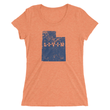 Utah LIVIN Navy Logo Ladies' short sleeve t-shirt (12 colors available) - State Of Livin