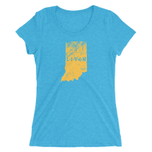 Indiana LIVIN Yellow Logo Ladies' short sleeve t-shirt (10 colors available) - State Of Livin