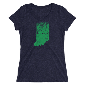 Indiana LIVIN Irish Green Ladies' short sleeve t-shirt (6 colors available) - State Of Livin