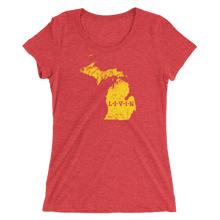Michigan LIVIN Yellow Logo Ladies' short sleeve t-shirt (11 colors available) - State Of Livin