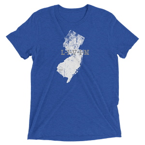 New Jersey LIVIN Royal, White, Grey Short sleeve t-shirt - State Of Livin