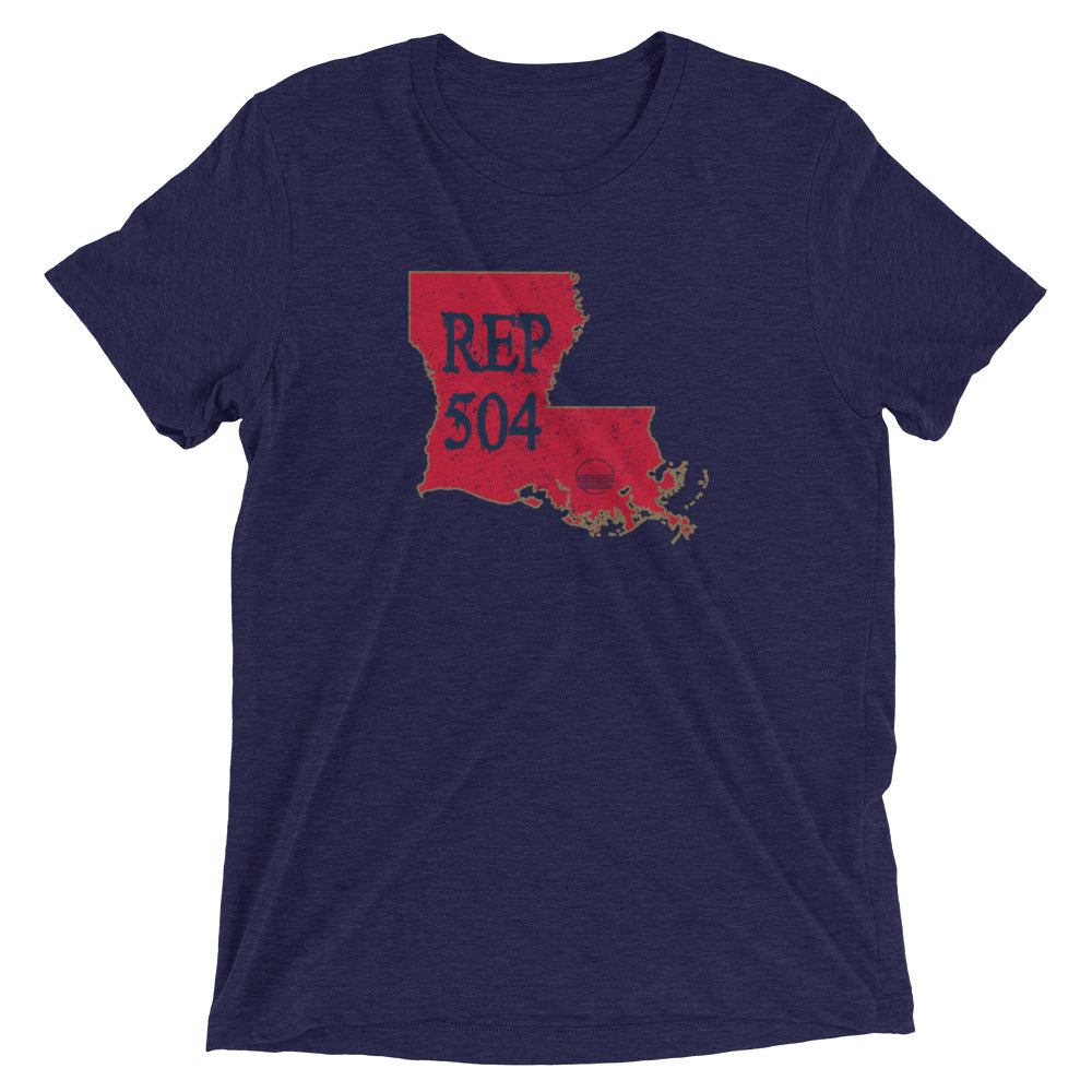 New Orleans REP 504 Unisex Short sleeve t-shirt - State Of Livin