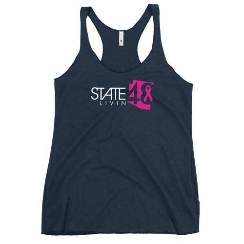 State 48 Livin Breast Cancer Women's Racerback Tank