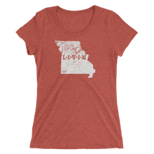 Missouri LIVIN Grey Logo Ladies' short sleeve t-shirt (13 colors available) - State Of Livin