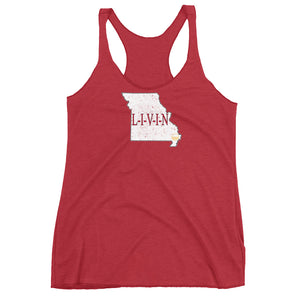 Missouri GAME DAY LIVIN Women's Racerback Tank - State Of Livin