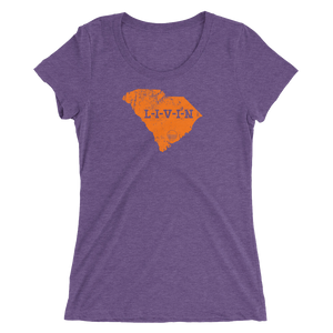 South Carolina Orange Logo Ladies' short sleeve t-shirt (8 colors available) - State Of Livin