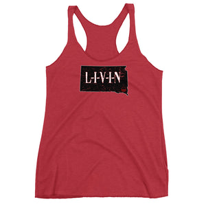 South Dakota LIVIN Women's Racerback Tank - State Of Livin